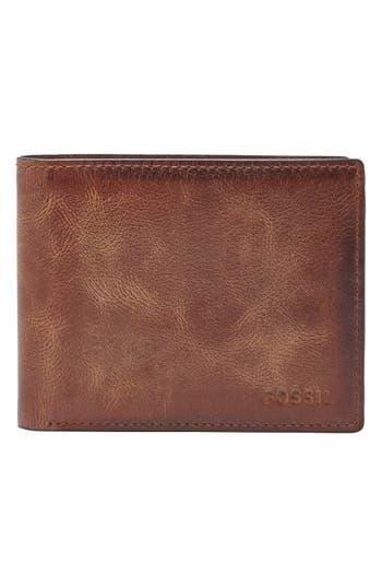 Men's Fossil 'Derrick' Rfid Leather Bifold Wallet -
