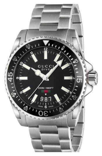 Gucci Dive Bracelet Watch, 40mm