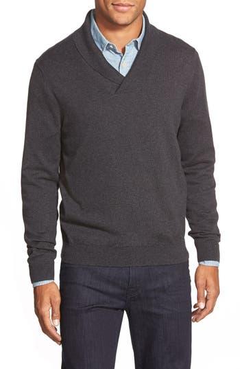 Nordstrom Men's Shop Cotton & Cashmere Shawl Collar Sweater