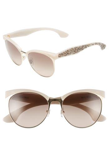 Miu Miu 5m Pave Cat Eye Sunglasses -