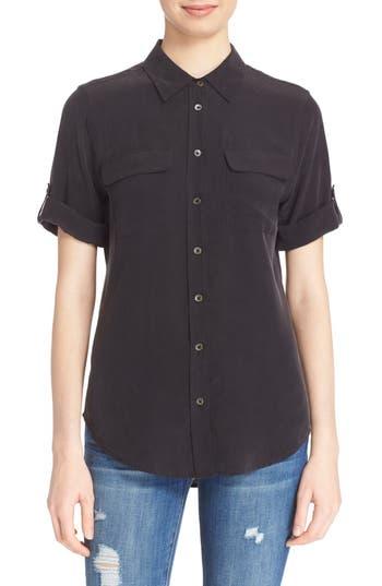 Women's Equipment Slim Signature Short Sleeve Silk Shirt