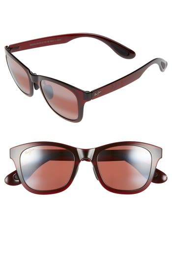 Maui Jim Hana Bay 51Mm Polarizedplus2 Sunglasses - Burgundy/ Maui Rose