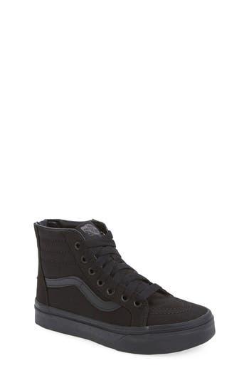 Boys Vans Sk8Hi Zip Sneaker Size 13 M  Black