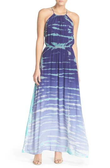 Women's Fraiche By J Tie Dye Crepe Maxi Dress