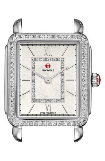 Women's Michele Deco Ii Diamond Dial Watch Case, 26Mm X 28Mm (Nordstrom Exclusive)