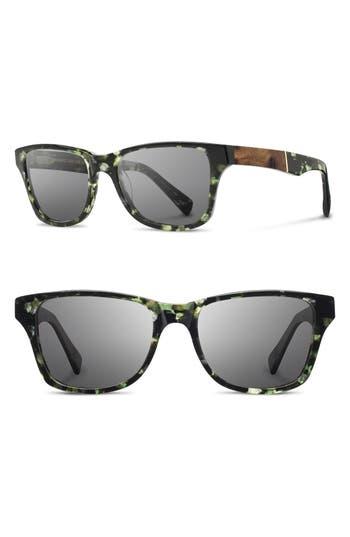 Shwood Polarized Wood Inlay Sunglasses -