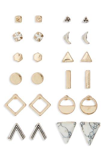 Junior Women's Bp. Geometric Stud Earrings (Set Of 12)