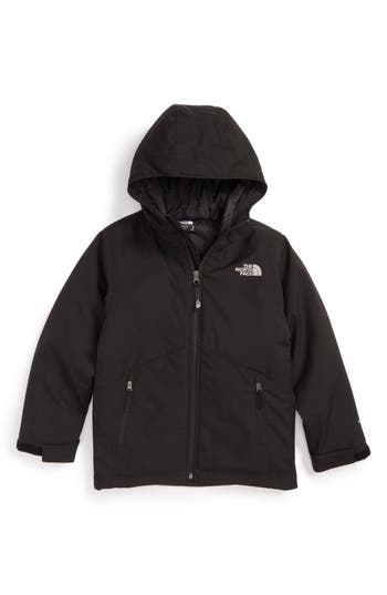 Boys The North Face Apex Elevation Hooded Jacket Size M (1012)  Black