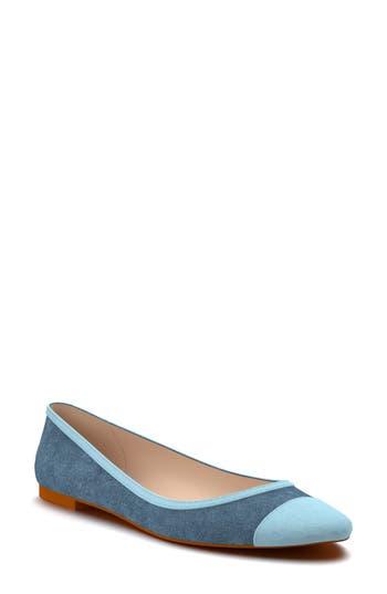 Shoes Of Prey Cap Toe Flat - Blue