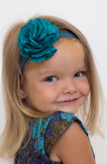 Plh Bows & Laces Flower Headband, Size 0-24 M - Blue/green
