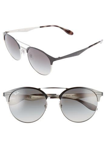 Ray-Ban Highstreet 5m Round Sunglasses - Shiny Black