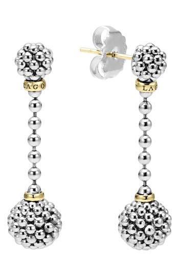Women's Lagos Caviar Lattice Ball Drop Earrings