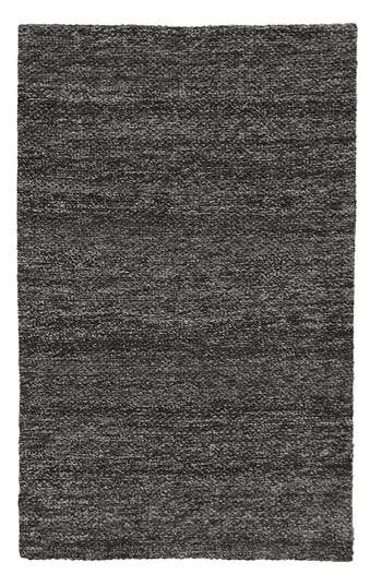 Villa Home Collection Heathered Wool Rug, Size Swatch - Black