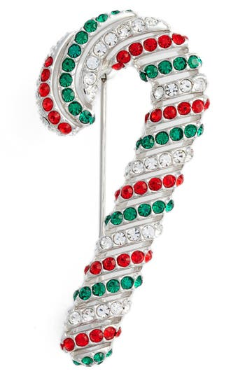 Women's Nadri Jolly Candy Cane Pin