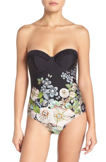 Ted Baker London Underwire One-Piece Swimsuit