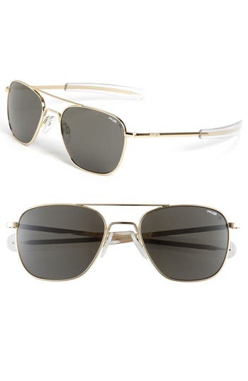 Randolph Engineering 55Mm Aviator Sunglasses - Gold