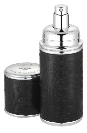 BLACK WITH SILVER TRIM LEATHER ATOMIZER