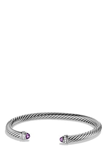 David Yurman Cable Classics Bracelet with Semiprecious Stones & Diamonds, 5mm