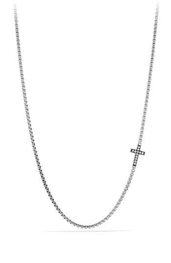 Men's David Yurman Pavé Cross Necklace With Diamonds
