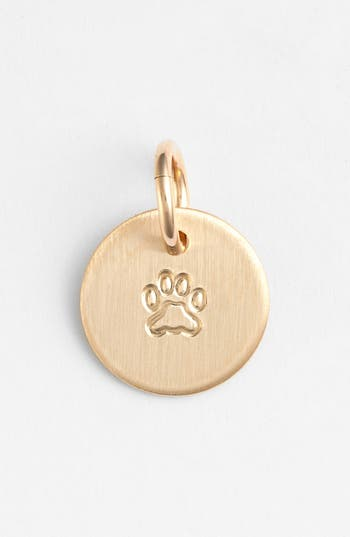 Women's Nashelle Paw Mini Stamp Charm