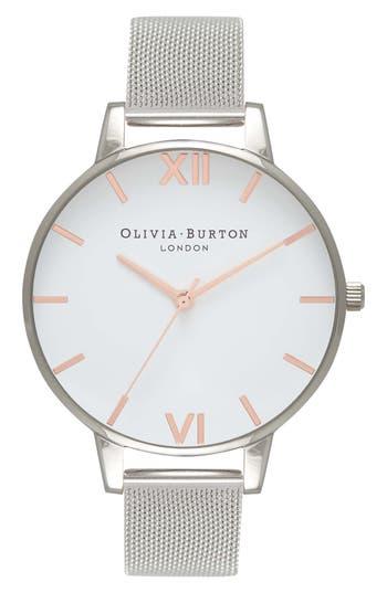 Olivia Burton Mesh Strap Watch, 38mm