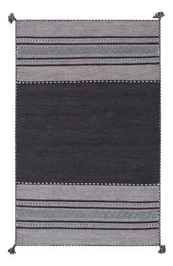 Surya Home Trenza Global Stripe Rug, Size Swatch - Black