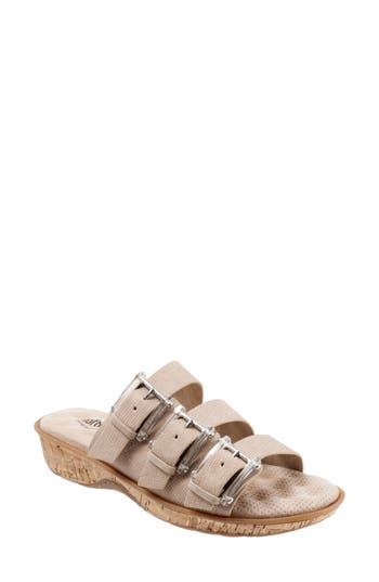 Softwalk Barts Slide Sandal, Beige
