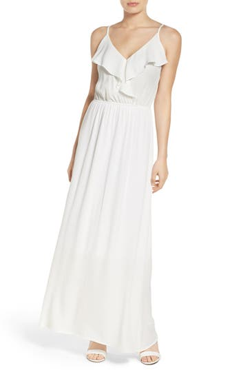 Women's Fraiche By J Blouson Maxi Dress, Size Small - White