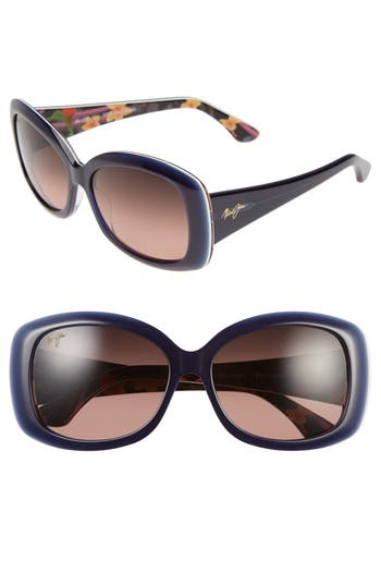 Maui Jim You Move Me 60Mm Polarizedplus2 Sunglasses - Navy/ White/ Silk