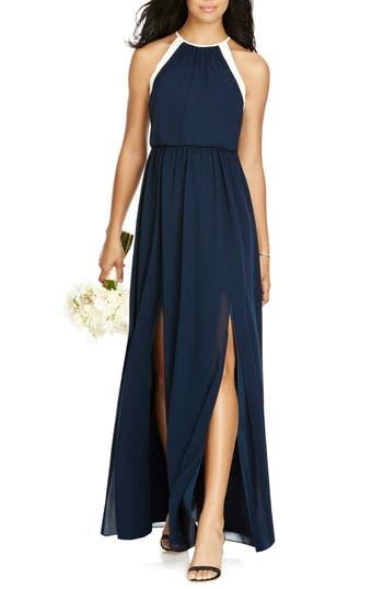 Social Bridesmaids Halter Chiffon Gown