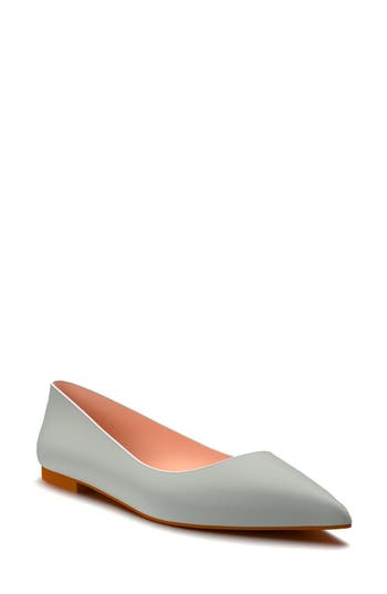 Shoes Of Prey Pointy Toe Flat, Grey