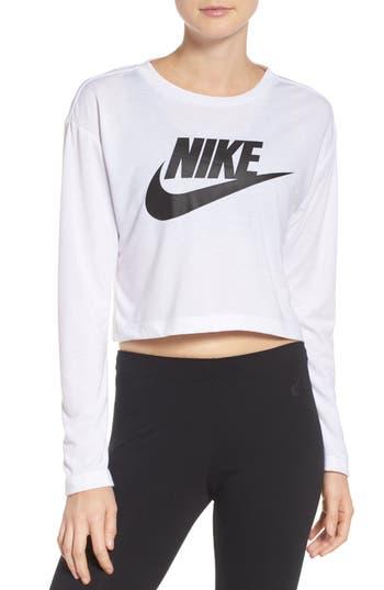 Nike Sportswear Graphic Crop Tee, White