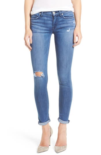 Hudson Tally Crop Skinny Jeans, Blue