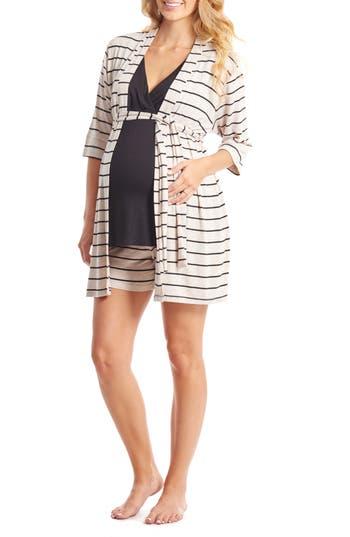 Women's Everly Grey Adalia 5-Piece Maternity/nursing Pajama Set