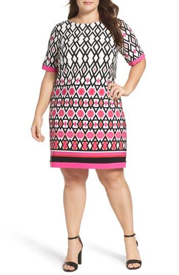 Plus Size Eliza J Graphic Print Shift Dress