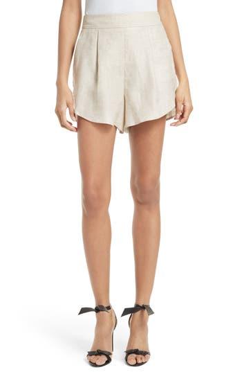 Women's Milly Linen Blend Petal Shorts