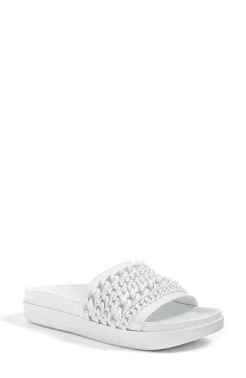 Kendall + Kylie Shiloh Chain Link Platform Slide, White