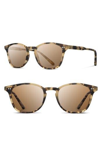 Shwood Kennedy 50Mm Polarized Sunglasses - Matte Havana / Brown