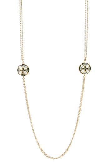 Women's Freida Rothman Fleur Bloom Deux Petal Necklace