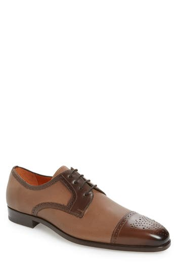 Mezlan Moseley Cap-Toe Oxford, Brown