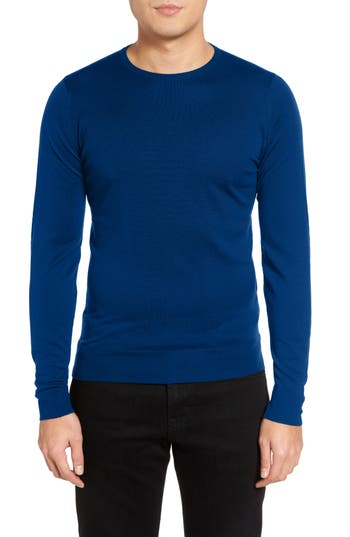 John Smedley Merino Wool Sweater, Blue