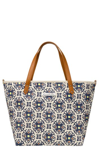 Infant Girl's Petunia Pickle Bottom 'Downtown' Glazed Canvas Tote - Blue