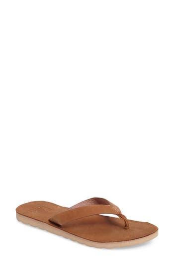 Reef Voyage Flip Flops, Brown