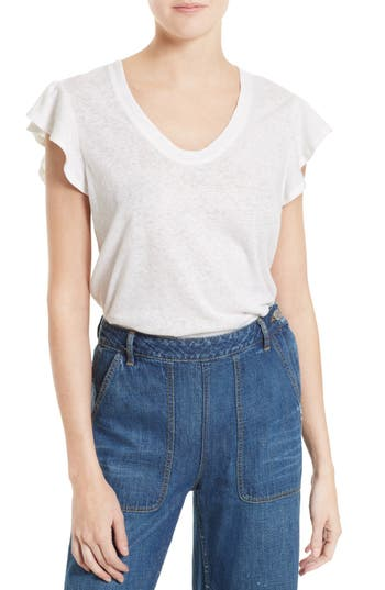 La Vie Rebecca Taylor Washed Texture Jersey Tee, Ivory