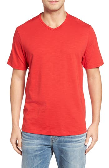 Big & Tall Tommy Bahama Portside Player V-Neck T-Shirt - Red