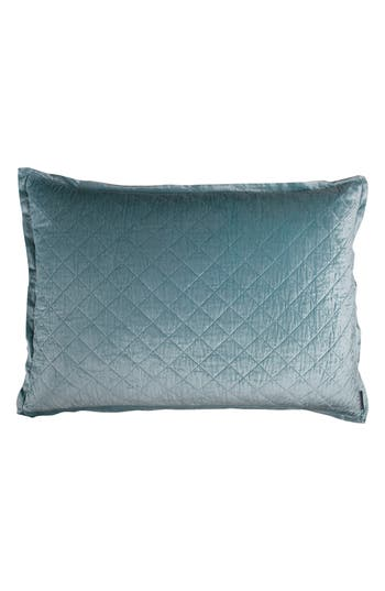Lili Alessandra Chloe Luxe Euro Quilted Sham, Size Euro - Blue/green