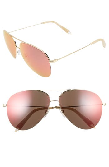 Victoria Beckham Classic Victoria 62Mm Sunglasses - Gold Cinnamon