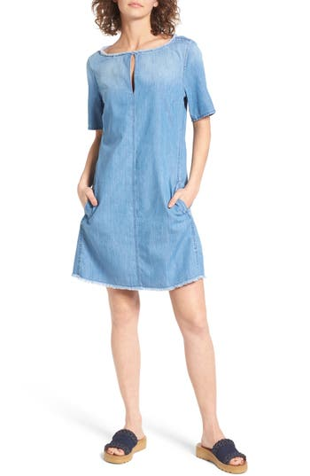 Ag Alton Chambray Shift Dress