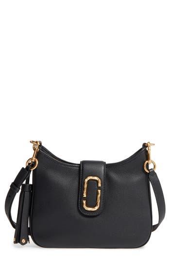 Marc Jacobs Small Interlock Leather Hobo - Black