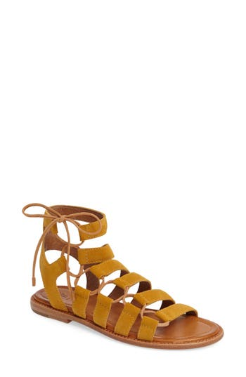 Frye Blair Ghillie Sandal- Yellow